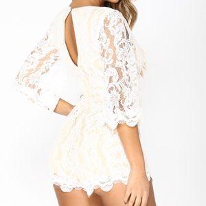 White lace romper Fashion Nova - XL - NWT